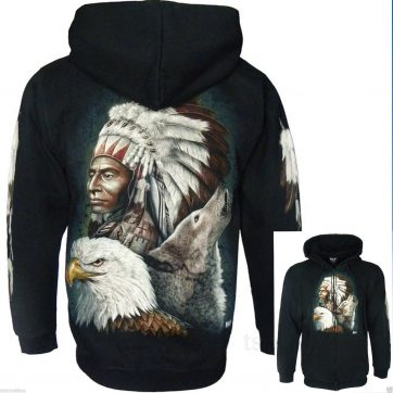 chief wolf eagle jacket