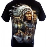indian wolf tshirt rear