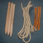 tipi peg and rope pack